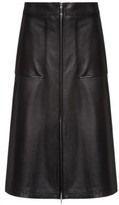 HUGO BOSS - Regular Fit A Line Skirt In Lamb Leather - Black