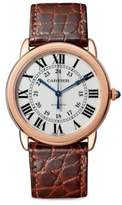Cartier Ronde Solo 18K Rose Gold & Alligator Strap Watch