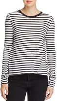 Pam & Gela Striped Lace-Up Tee