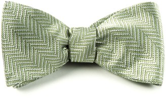 The Tie BarThe Tie Bar Moss Native Herringbone Bow Tie
