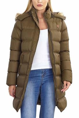Brave Soul Ladies Jacket HOPLONGKHI Khaki UK 10