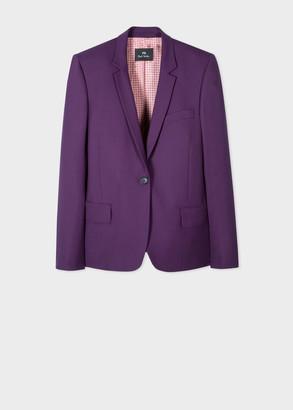 Paul Smith Women's Purple Wool-Hopsack Blazer
