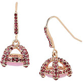 Betsey Johnson Sweet Shop Rosegold Stone Drop Earrings