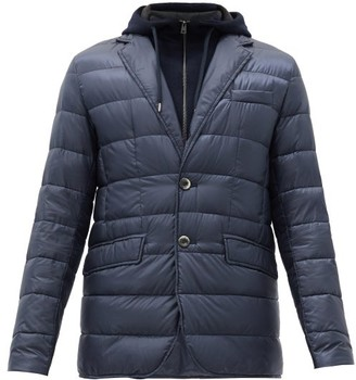Herno Hooded Quilted Down Jacket - Blue