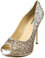 GUESS Honoran Women US 10 Silver Peep Toe Platform Heel