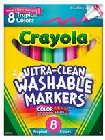 Crayola Ultra-Clean Markers Broadline Washable 8ct Tropical Colors