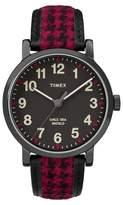 Timex Originals Watch with Houndstooth Strap - Black/Red TW2P989002B