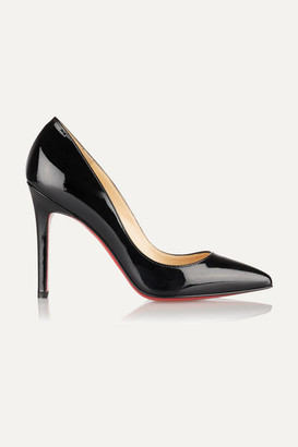 Christian Louboutin Pigalle 100 Patent-leather Pumps - Black