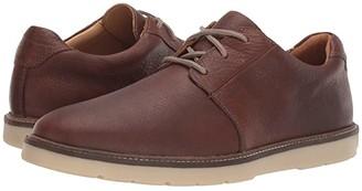 Clarks Grandin Plain (Dark Brown Tumbled Leather) Men's Shoes