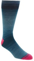Lorenzo Uomo Men's Thin Stripe Crew Socks