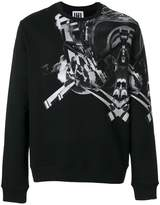 Les Hommes Urban symmetry print sweatshirt