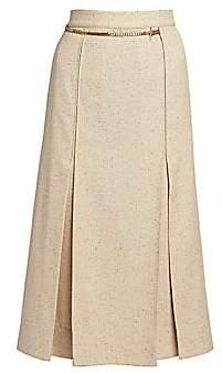 Victoria Beckham Women's Chain Belt Midi Skirt