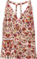Haute Hippie Printed silk top