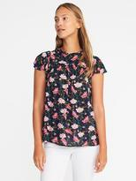 Old Navy Lightweight Ruffle-Trim Blouse for Women