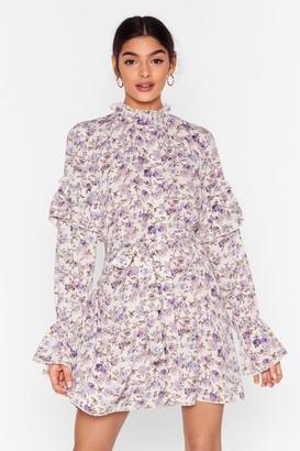 Nasty Gal Womens Plant One on Me Floral Mini Dress - White - 4, White