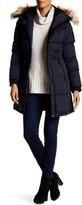 NOIZE Gail Removable Faux Fur Trim Hooded Coat