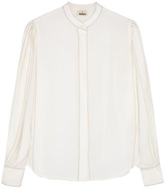 BODICE Ivory silk crepe de chine blouse