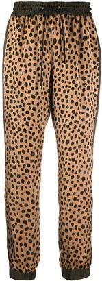 Sacai Leopard Print Drawstring Trousers