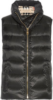 Burberry Quilted Shell Down Gilet - Black