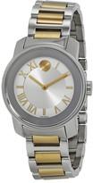 Movado Bold Quartz Silver Dial Two-tone Ladies Watch