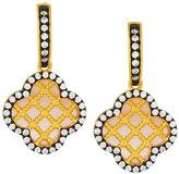 Freida Rothman Iridescent Lattice Clover Drop Earrings, Pink