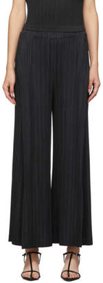 Pleats Please Issey Miyake Black Thick Bottom Trousers