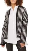 Topshop Batwing Sequin Stripe Jacket