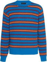 Prada Intarsia Wool-Blend Sweater