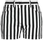 Dolce & Gabbana Striped Denim Shorts