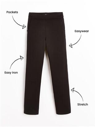 Very Girls 2 Pack Jersey School Trousers - Black