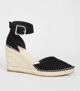 New Look Leather-Look Espadrille Wedge Court Shoes