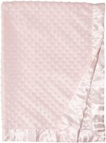 Rashti & Rashti Baby Starters Textured Dot Blanket with Satin Trim, Pink 30 x 40