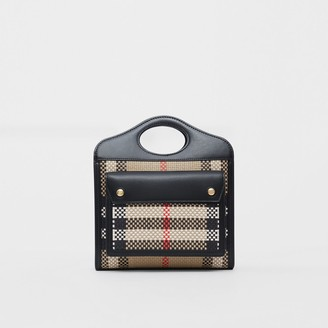 Burberry Mini Latticed Leather Pocket Bag