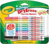 Crayola 12Ct Fineline Washable Dry Erase Markers