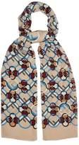 Fendi Logo-print silk scarf