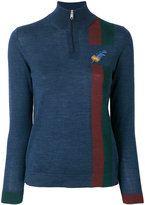 Paul Smith embroidered feather zip jumper