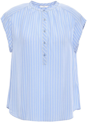 Joie Striped Crepe De Chine Blouse