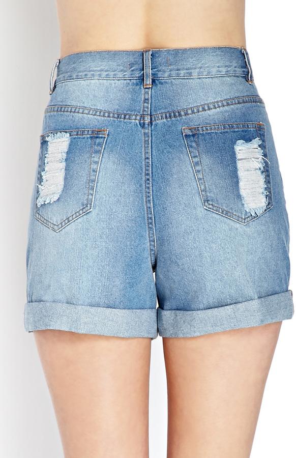 Forever 21 Rodeo Denim Shorts