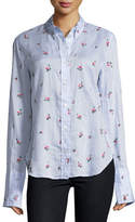 Isabel Marant Uliana Embroidered Button-Front Blouse