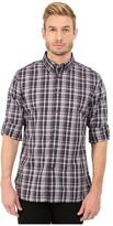John Varvatos Slim Fit Plaid Button Down Collar Sport Shirt W426R4B