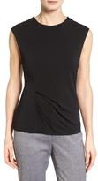 BOSS Women's Enovy Sleeveless Side Drape Top