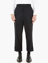 Thom Browne Black Distressed Wool Trousers