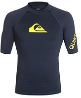 Quiksilver Mens All Time - Short Sleeve Rash Vest Rashguard