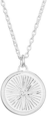Astley Clarke Small Sterling Silver & White Sapphire Star Pendant Necklace