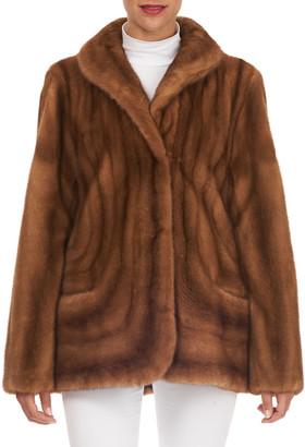 Zac Posen Directional Mink Fur Stroller Coat