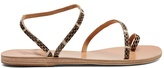 Ancient Greek Sandals Apli Eleftheria snakeskin sandals
