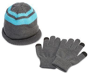 JCPenney Asstd National Brand Berkshire Brim Hat & Gloves Set - Boys