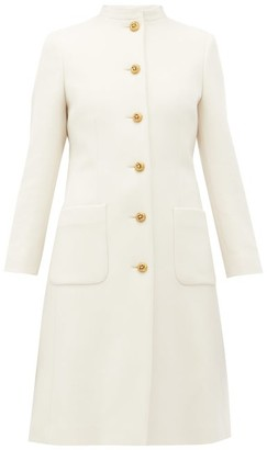 Gucci Single-breasted Wool Coat - Ivory