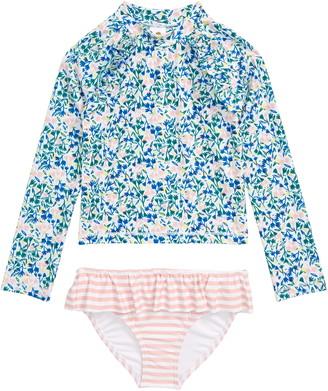 Tucker + Tate Graphic Ruffle Two-Piece Rashguard Swimsuit