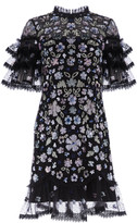 Needle & Thread Meadow Ruffled Sequin Mini Dress